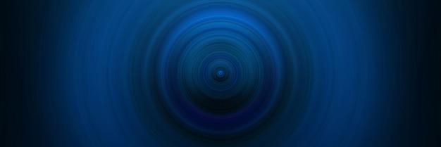 Fondo blu rotondo astratto. cerchi dal punto centrale. immagine di cerchi divergenti. rotazione che crea cerchi.