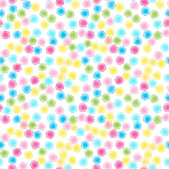 Fondo multicolore senza cuciture astratto del punto dell'acquerello