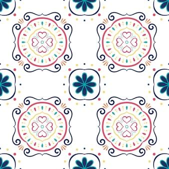 Ornamento senza giunte astratto per piastrelle di ceramica