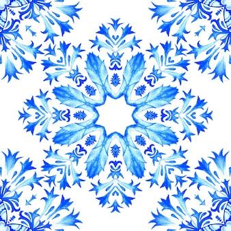Modello astratto senza cuciture ornamentali della pittura del fiore dell'acquerello per tessuto
