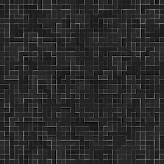 Modello senza cuciture astratto. mosaico ceramico astratto di struttura del mosaico nero di lusso ornato edificio. pietre ceramiche colorate astratte.