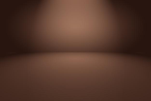 Sfondo astratto muro marrone liscio con colore sfumato cerchio liscio.