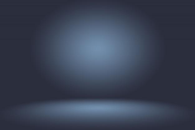 Blu scuro regolare astratto con lo studio nero di scenetta