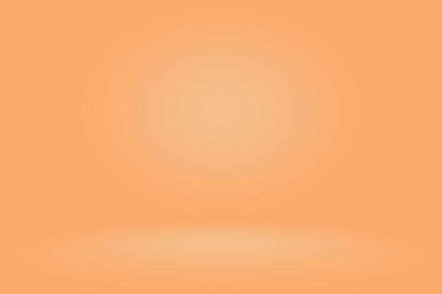 Progettazione di layout di sfondo arancione liscio astratto, studio, camera, modello web, relazione aziendale con colore sfumato cerchio liscio