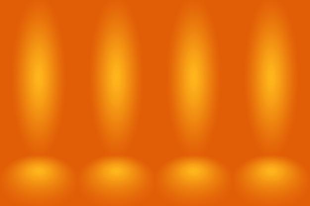 Astratto sfondo arancione liscio colore sfumato cerchio liscio.