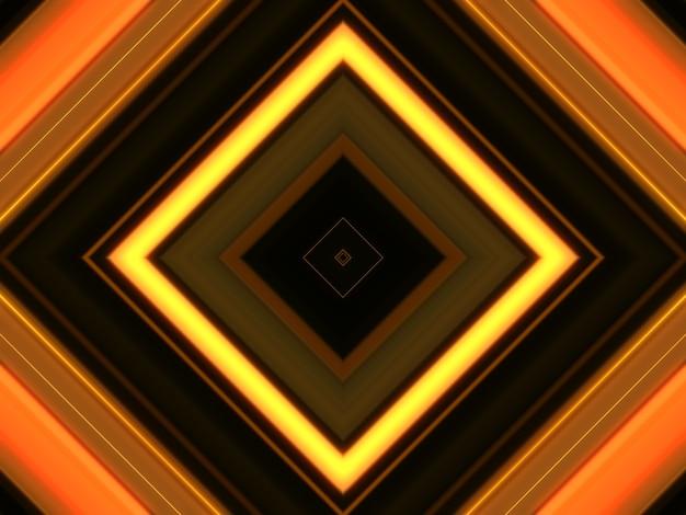 Sfondo astratto luci quadrate, tema arancione.