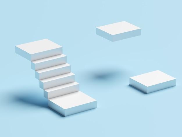Scala astratta. scale con gradini, concetto di affari
