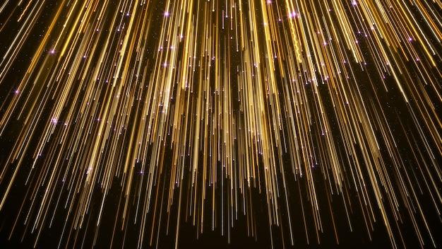Le luci cadenti astratte della stella premiano il fondo elegante.