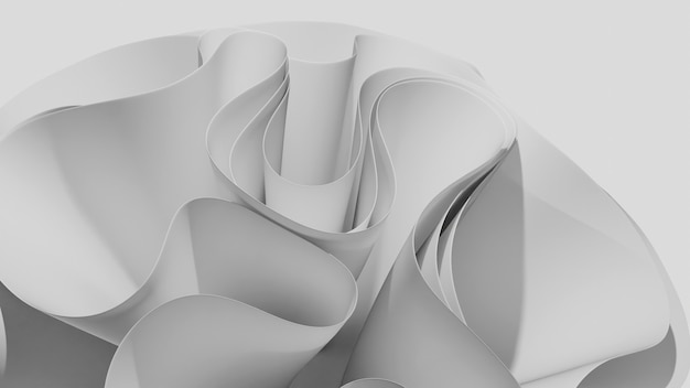 Ricciolo astratto tessuto ondulato sfondo