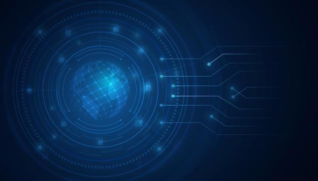 Fondo astratto di tecnologia fondo di innovazione digitale di concetto di comunicazione hi-tech