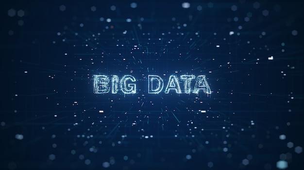 Concetto astratto di big data di tecnologia.