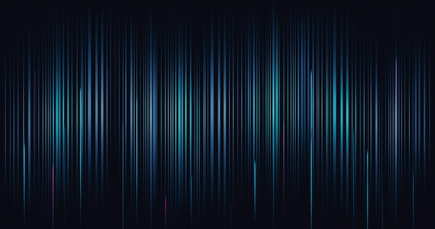 Fondo del modello di onda della linea digitale di tecnologia astratta e carta da parati futuristica del sito web della rete di comunicazione con l'innovazione dell'effetto di movimento dinamico di velocità.