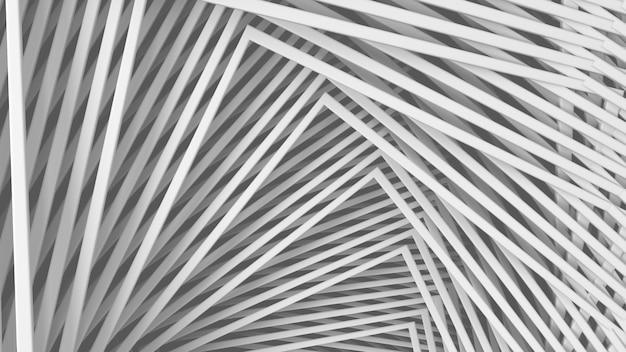 Struttura leggera bianca minima tridimensionale astratta