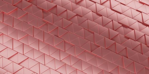 Rendering 3d sfondo triangolo astratto.