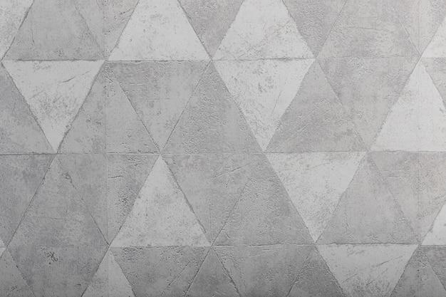 Struttura astratta del triangolo e foto di sfondo del modello, concetto di superficie dell'elemento geometrico