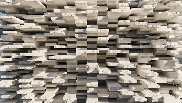 Fondo astratto della parete dei blocchi di marmo grigi disordinato
