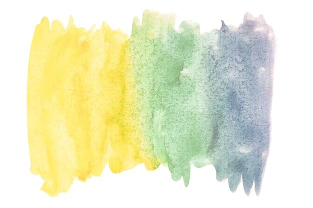Pittura astratta della mano di arte dell'acquerello su fondo bianco isolato. sfondo acquerello.