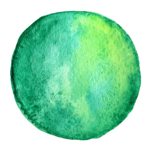 Acquerello astratto disegnato a mano bakcground cerchio isolato su sfondo bianco