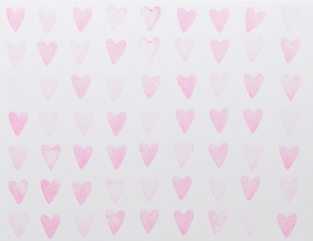 Reticolo senza giunte dell'acquerello astratto cuori rosa