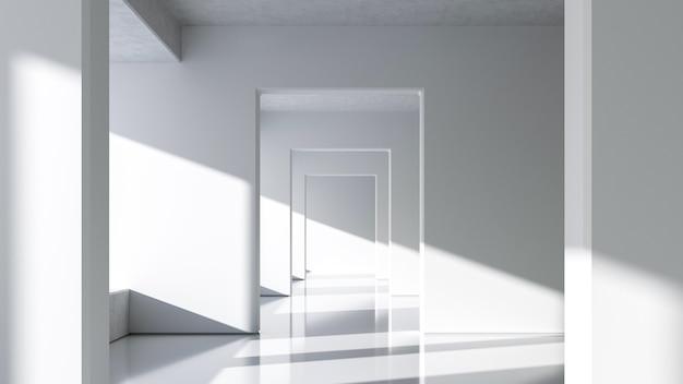 Architettura bianca astratta