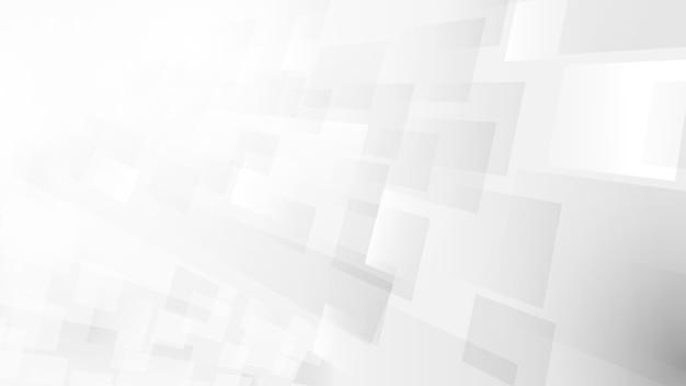 Tecnologia bianca e grigia astratta digitale futuristico alta tecnologia. movimento ad alta velocità. trama di quadrati. illustrazione vettoriale