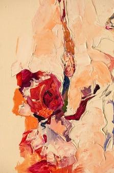 Disegno fatto a mano della pittura a olio di astrazione