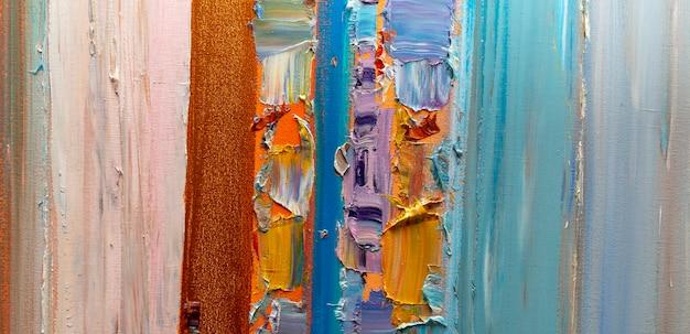Astrazione pittura a olio arte semplice
