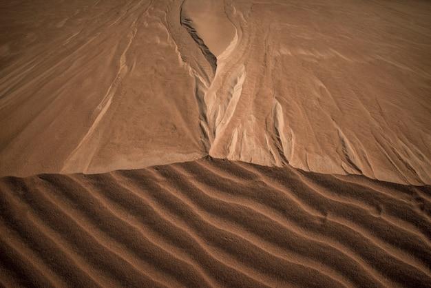 Astrazione del modello delle dune di sabbia in jalapao, tocantins brasile.