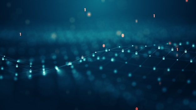 Controllo degli accessi e concetto di sicurezza informatica. tecnologia di rete dati sicuralucchetti e lucchetti sullo schermo digitale virtuale. protocollo di protezione dei dati e delle informazioni. connessione sicura.