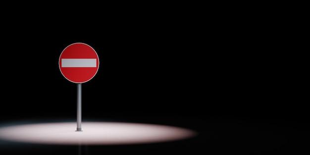 Accesso negato cartello stradale sotto i riflettori isolato
