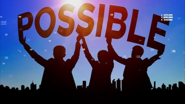 Realizzazione e obiettivo aziendale successo concettuale.