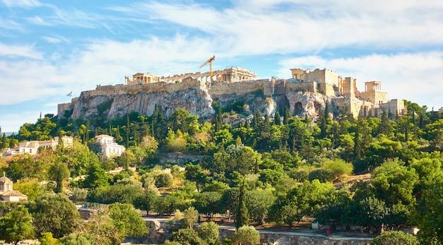 L'acropoli di atene, grecia