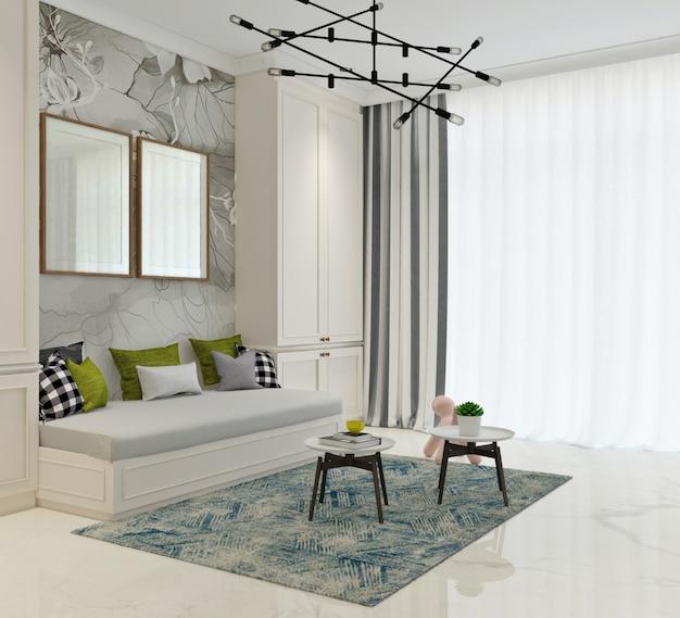 Attività o sala relax con un design classico moderno