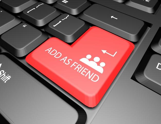 Aggiungi come tasto amico tastiera 3d