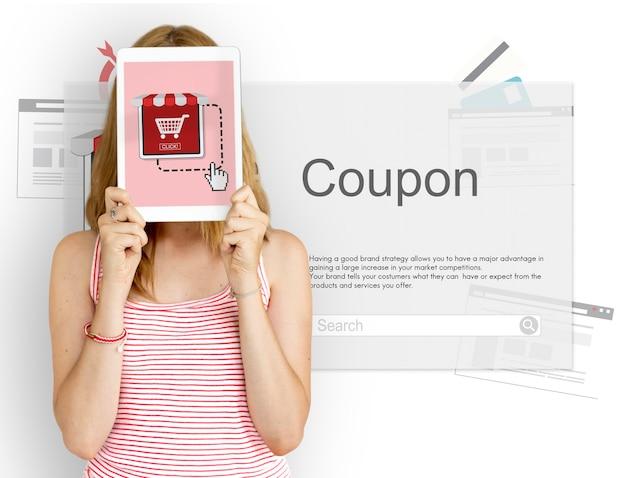 Aggiungi al carrello ordine shopping coupon icon