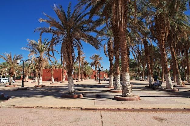 Città di adrar nel deserto del sahara, algeria