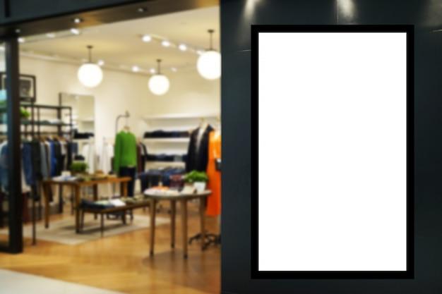 Annunci. tabellone per le affissioni in bianco o scatola leggera di pubblicità digitale