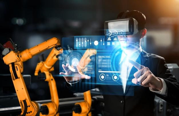 Sistema avanzato di bracci robotici per l'industria digitale e la tecnologia robotica di fabbrica