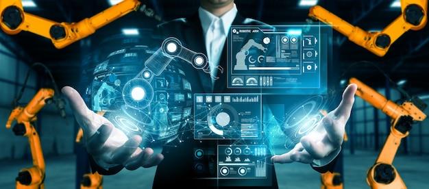 Sistema di braccio robotico avanzato per l'industria digitale e la tecnologia robotica di fabbrica