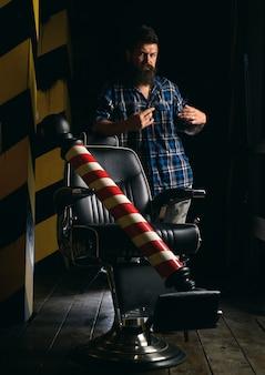 Pubblicità e concetto di negozio di barbiere.
