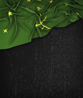 Adygea flag vintage su una lavagna nera grunge con spazio per il testo