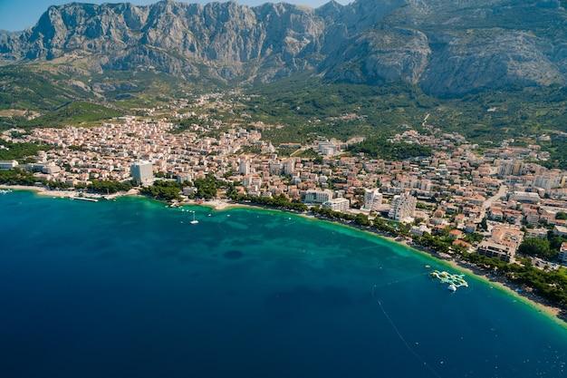 Foto aerea drone makarska croazia
