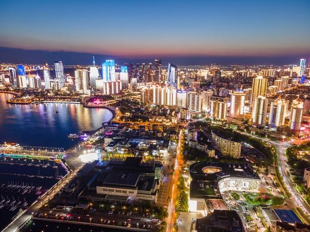 Foto aerea del centro velico olimpico di qingdao