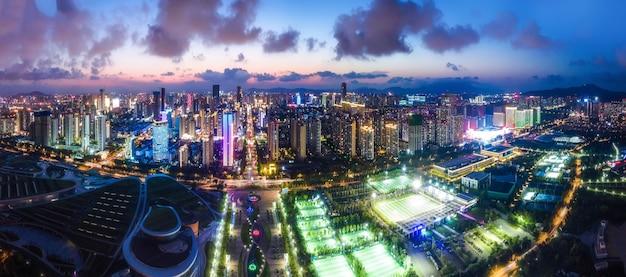 Fotografia aerea cina rizhao città architettura paesaggio costa