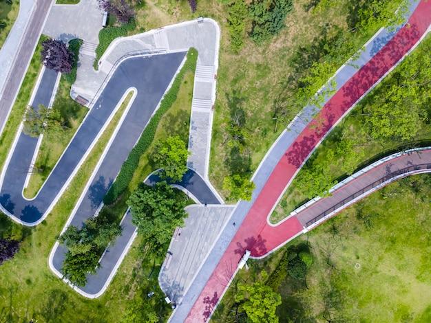 Strada del parco cittadino di fotografia aerea