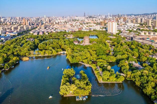 Fotografia aerea di jinan daming lake park