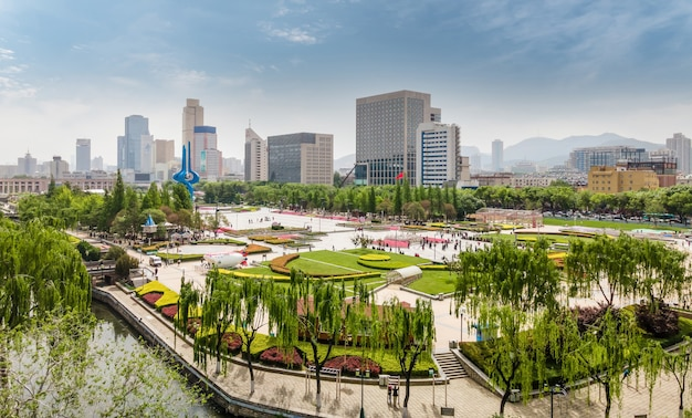 Fotografia aerea jinan spring city square
