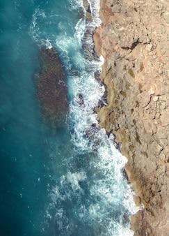 Fotografia aerea della costa mediterranea in spagna