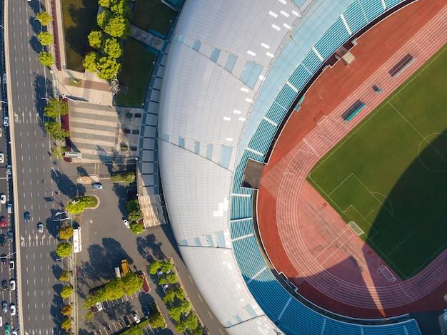 Fotografia aerea di stadi moderni