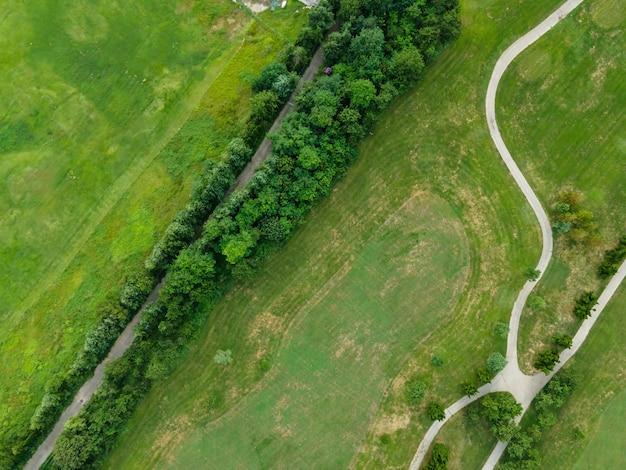 Fotografia aerea del campo da golf della costa di qingdao